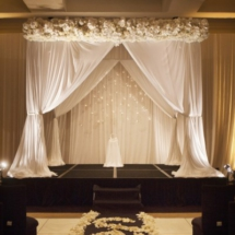 white wedding ceremony, chuppah