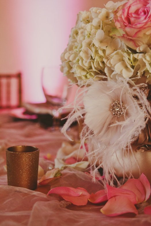 Wedding centerpieces with bling quotes