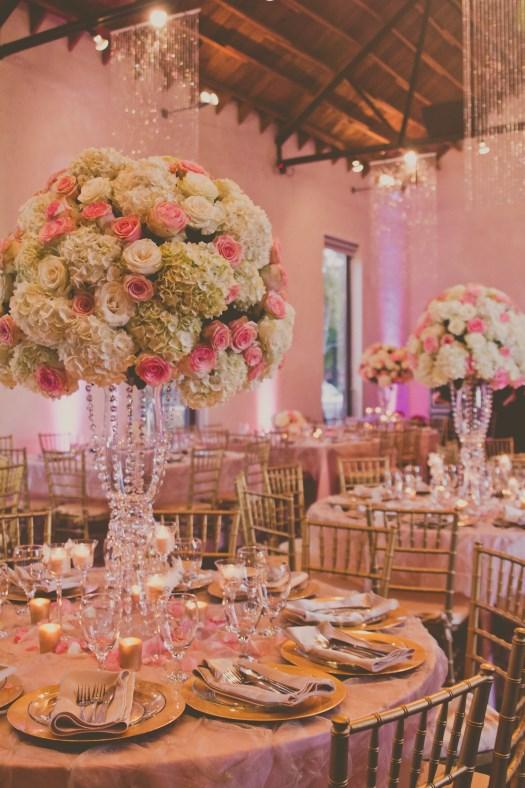 Pink and White Flower Ball Centerpiece Elliott Events