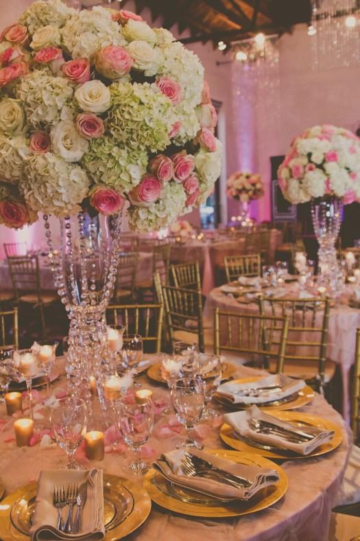 Large flower ball centerpiece elliott events