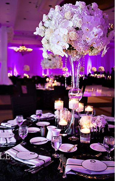 Simply elegant large flower ball centerpiece elliott events