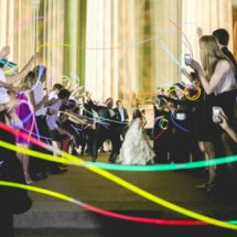 Glow stick exit, cook wedding exits
