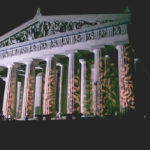 parthenon at night, custom lighting, elliott events, wedding planner in nashville
