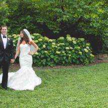 classic wedding, bride and groom