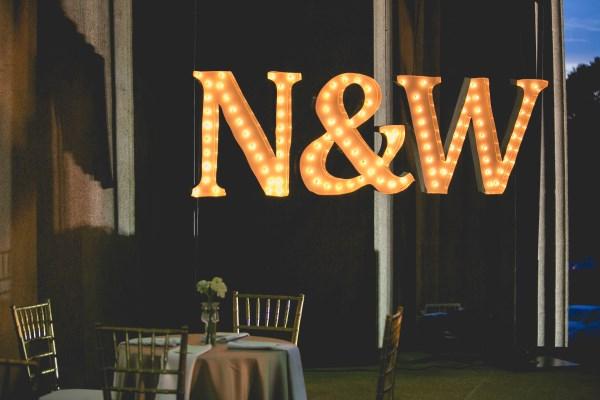 custom sign, bride, groom