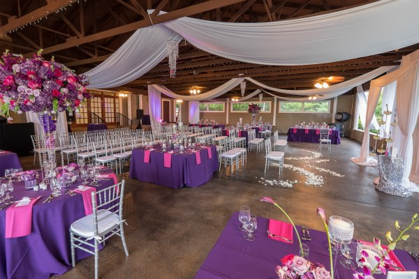 pink, purple, centerpieces, nashville wedding