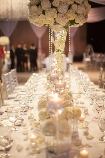 centerpieces, white, flowers