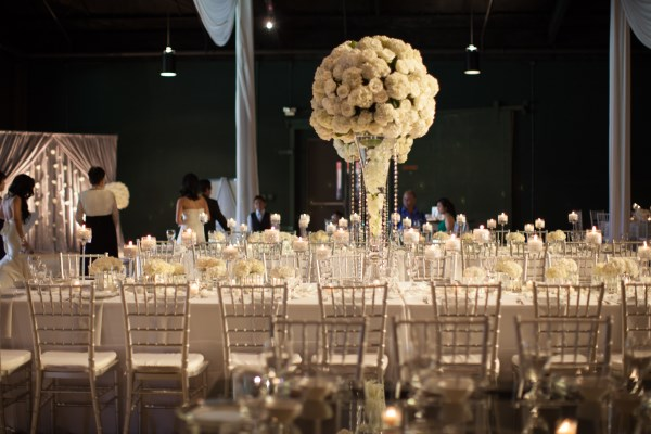 centerpieces, nashville decor, white