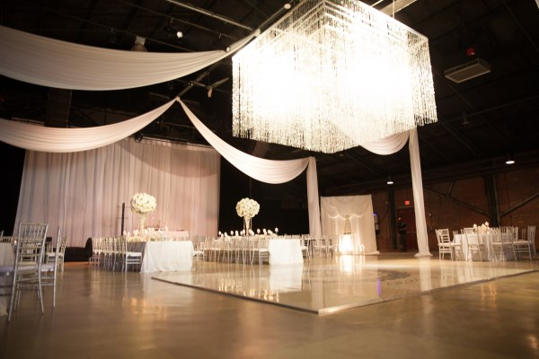dance floor, chandelier, white