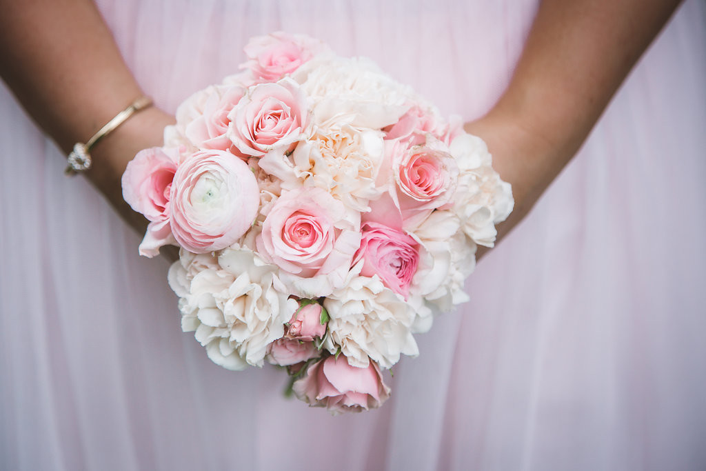 bridesmaid's bouquet, pink flowers
