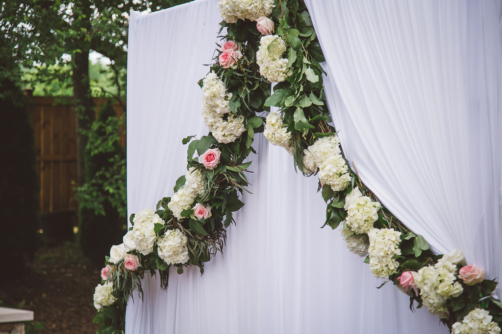ceremony altar decor, greenery