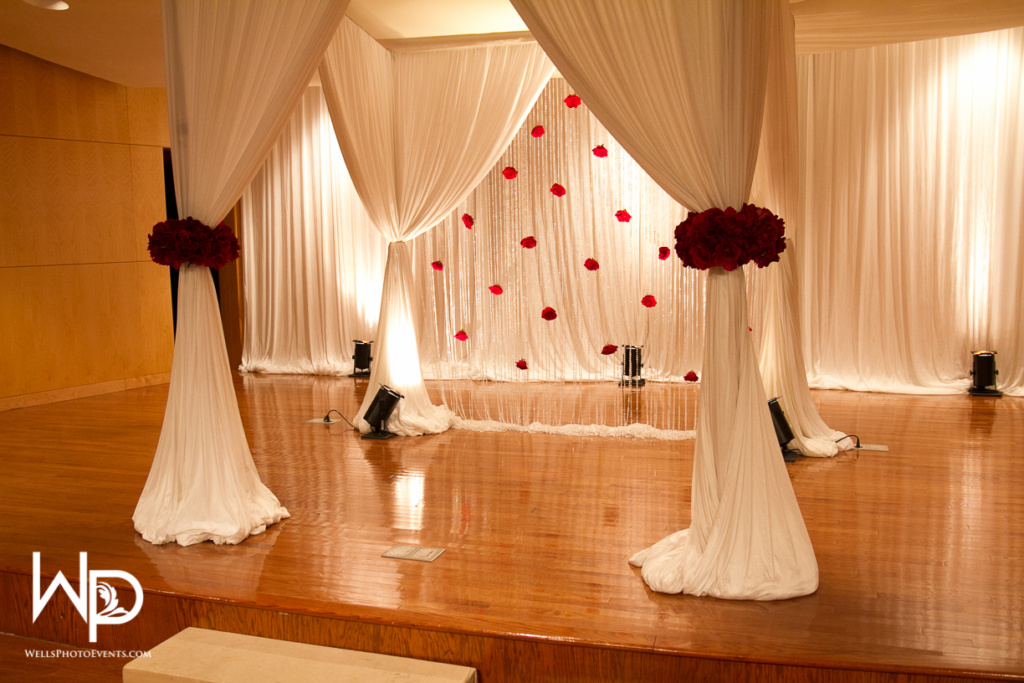 chuppah, ceremony, red, white