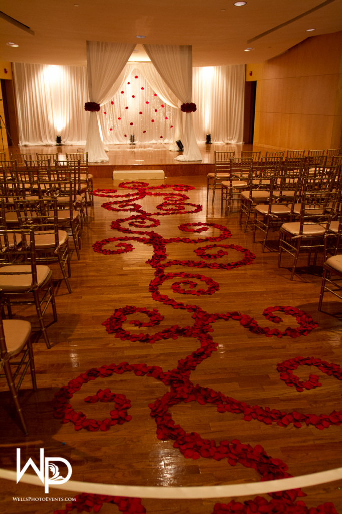 ceremony, aisle runner design, chuppah