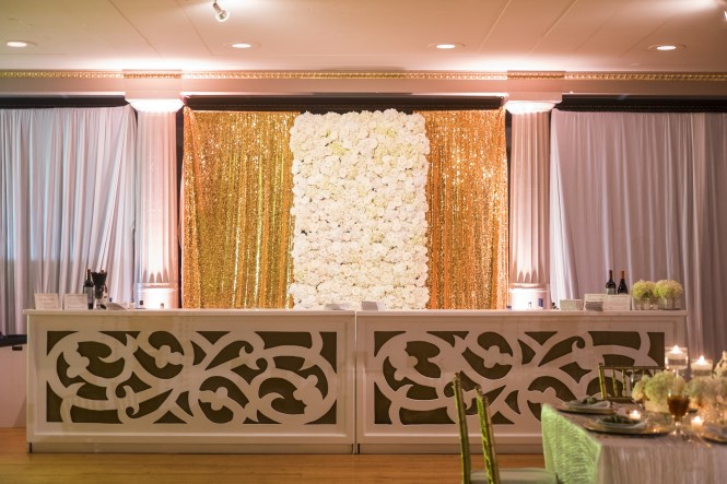 bar, flower wall, floral design