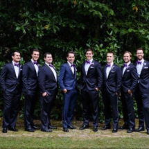 Bridal party, Memphis wedding