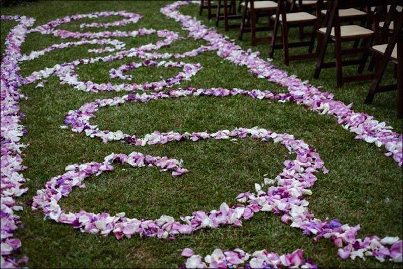 rose petal aisle runner, ceremony, nashville wedding planner
