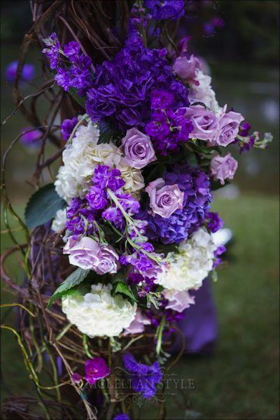 detailed chuppah, floral design, nashville decor