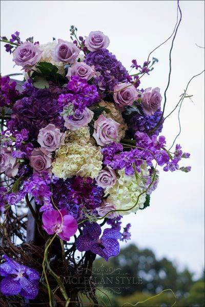 orchids, hhydrangeas, roses, stock, branches