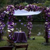 chuppah , purple chuppah, wedding designer