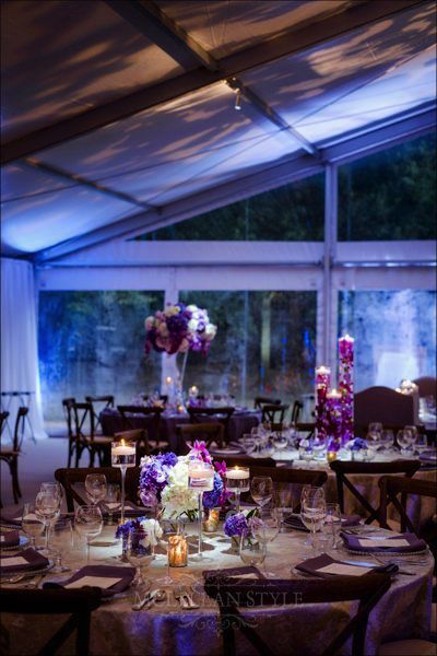 tent wedding, purple wedding, memphis