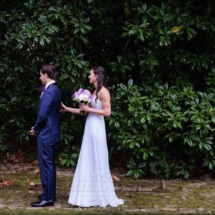 first look, bride and groom