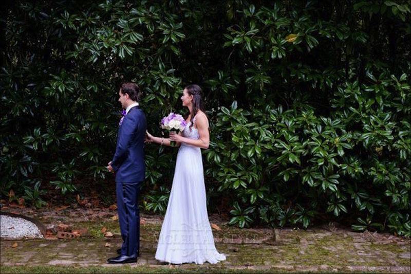 first look, bride, groom