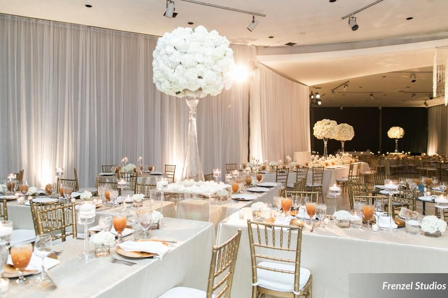 white centerpiece, luxury, nashville, Massey Hall, Room Transformation