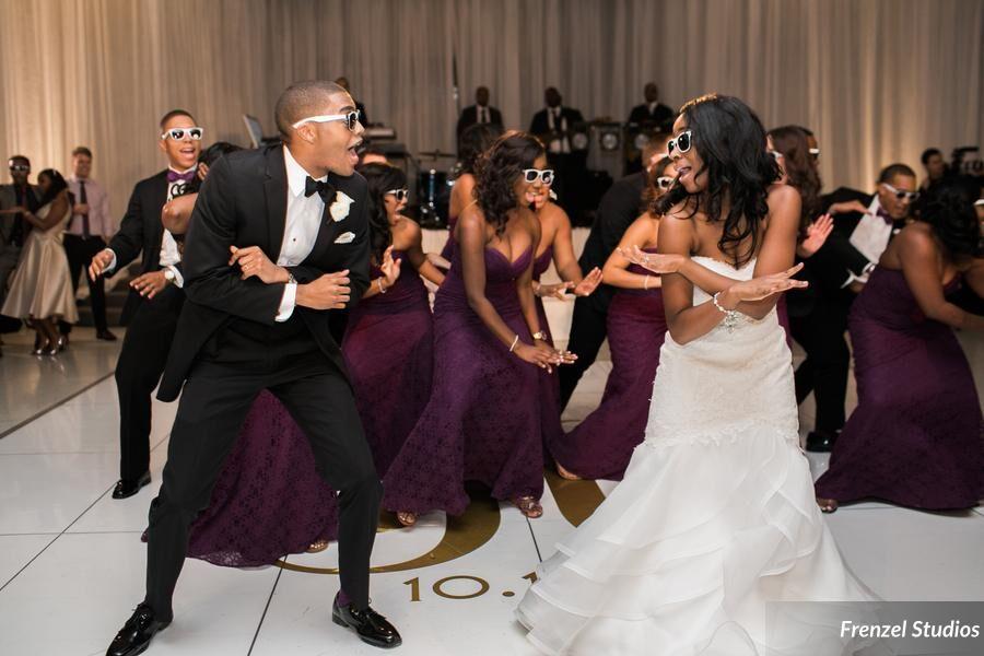 bride, groom, dance