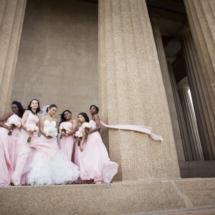 Bridesmaids ,blush dresses