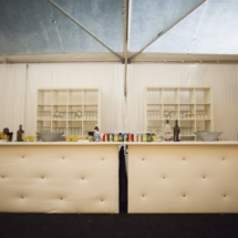 wedding bar set up