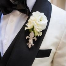 nfl groom, boutonniere, custom suit