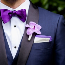 orchid boutonniere, memphis wedding