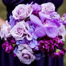 memphis wedding planner, purple bouquet