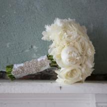 nashville wedding planner, bouquet, bling ribbon