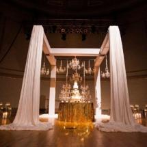 wedding cake, chandelier