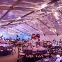 memphis wedding, floating cake, purple