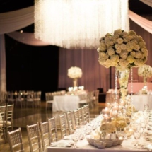 chandelier, table scape, centerpieces