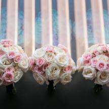 bridesmaids bouquet, pink, white