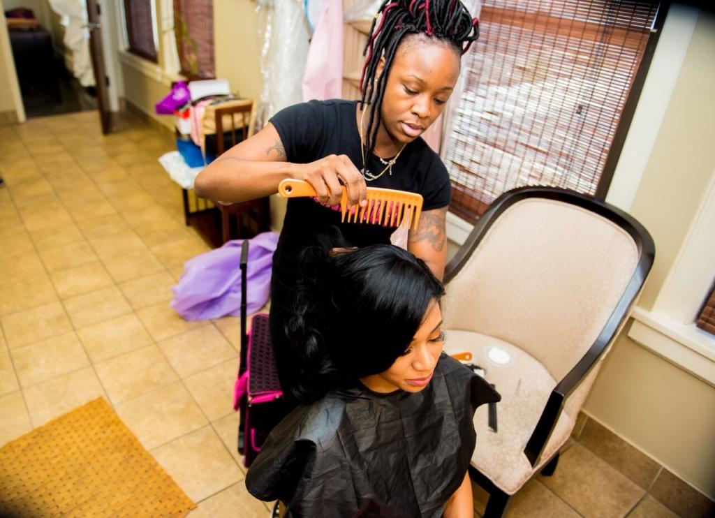 make up and hair, bride