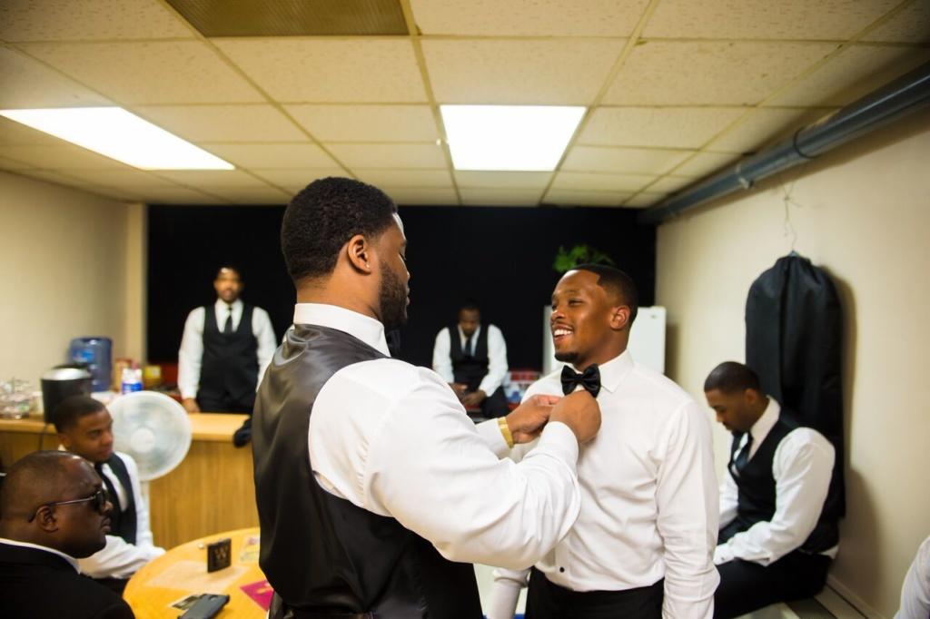 groom, bowtie, groomsmen