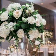 detail, large centerpiece, reception