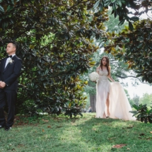 first look, fairytale, bride and groom