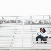 football engagement photos, nashville couple