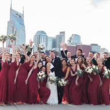 bridal party, nashville, batman building