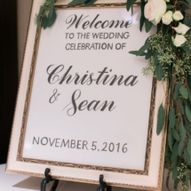 sign, wedding, reception
