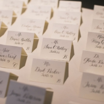 name cards, calligraphy, wedding