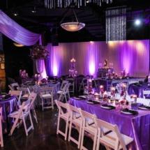 purple decor, nashville museum, venue
