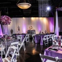 museum, nashville wedding planner, purple floral design