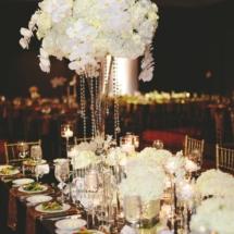 Luxury Wedding, White Florals, Tall White Centerpieces