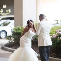 first look, bride, groom, love